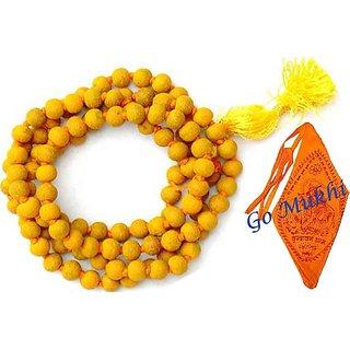 only4you Turmeric (Haldi) Mala 108+1 Beads, Turmeric Rosary, Haldi Mala, Baglamukhi Mala