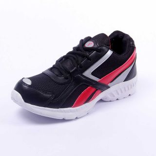 Foot 'n' Style Comfortable Black & RedSports Shoes (fs421)