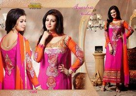Shagun Collection Georgette Semi-stitched Salwar Suit Dupatta Material