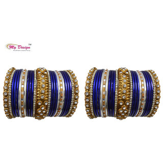 Bridal Chura Blue Wedding Bangles Chuda By My Design