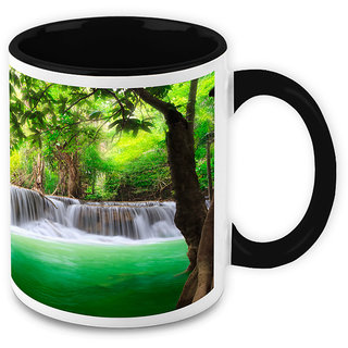 Homesogood Water Cooling Down Thirsty Nature White Ceramic Coffee Mug - 325 Ml