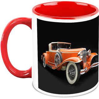Homesogood The British Legend Automobile White Ceramic Coffee Mug - 325 Ml