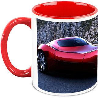 Homesogood Amazing Automobile With Great Beauty White Ceramic Coffee Mug - 325 Ml