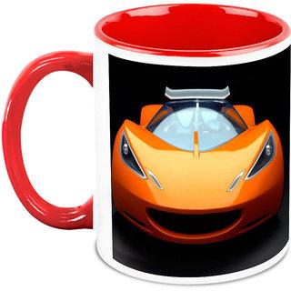 Homesogood Shark Faced Automobile White Ceramic Coffee Mug - 325 Ml