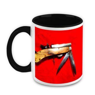 Homesogood Antique Knives White Ceramic Coffee Mug - 325 Ml