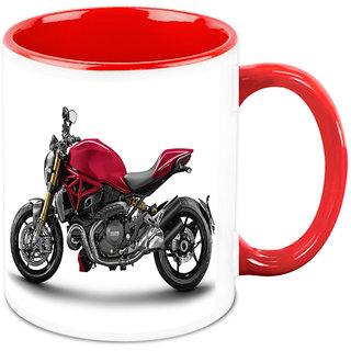 Homesogood Heavily Armored Automobile White Ceramic Coffee Mug - 325 Ml