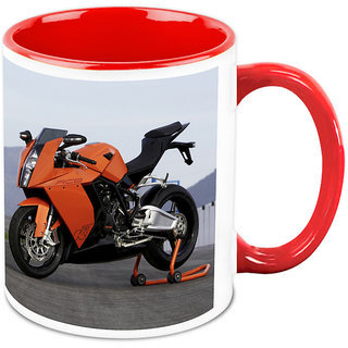 Homesogood Preparing The Automobile Before The Race White Ceramic Coffee Mug - 325 Ml