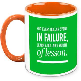 Homesogood Do Not Waste Your Money Office Quote White Ceramic Coffee Mug - 325 Ml