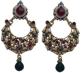 Red Colour Ethnic Earrings