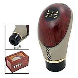 Type R Leather  Plastic Shift Lever Gear Knob