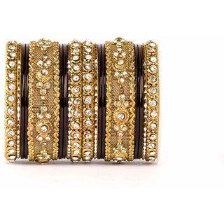 intricate shinning bangle set by Leshya black