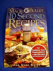 MAGIC BLENDER 10 SECOND RECIPE BOOK USER GUIDE
