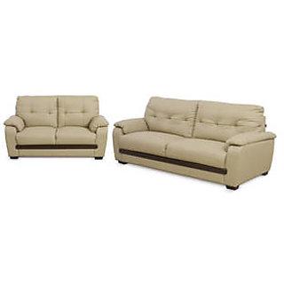 Westido Solid Wood Sand Sofa Set - Set Of 2