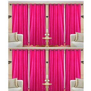 Geo Nature High Quality Eyelet Door Curtain Set Of 8 (Size-4X7 Feet) (CR2093)