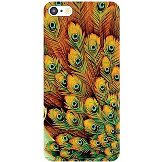 I Phone 5C Peacock Feathered