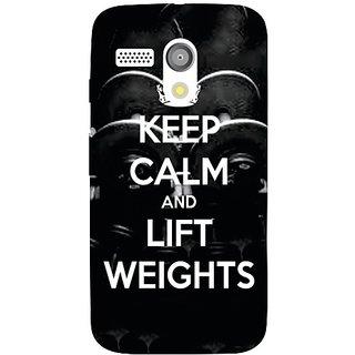 Motorola Moto G Keep Calm  Lift Weights