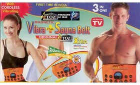 Magnetic Sauna Vibration Belt Weight loss Fat lose slim 3 in1 Vibration