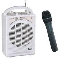 BTL Portable Wireless PA Amplifier USB Cordless Microphone Mic Recharg
