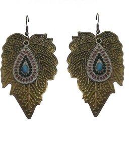 AARZOOL copper Leaf Earring.