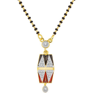 JC01000809 Jewelscart Meenakari Dangle Drop Alloy Mangalsutra