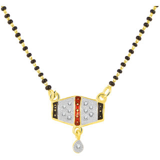 JC01000813 Jewelscart Meenakari Dangle Drop Alloy Mangalsutra
