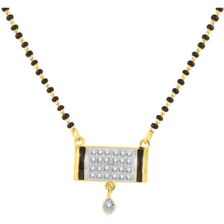 JC01000818 Jewelscart Meenakari Dangle Drop Alloy Mangalsutra
