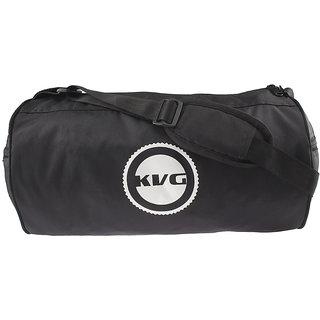 Vibrant Black Duffel Gym Bag By Kvg