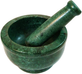 Italian Green Marble Handmade Mortar and Pestle set