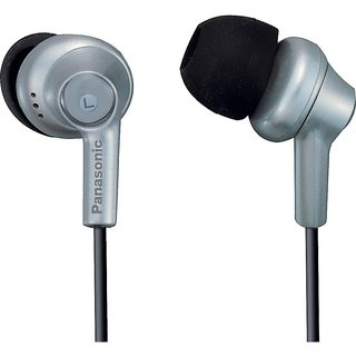 Panasonic RP-HJE270-S In-Ear Earbud Ergo-Fit Design Headphone (Silver)