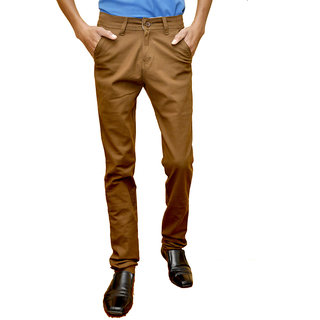 Smartshop Casual Brown Cotton Chinos Trouser