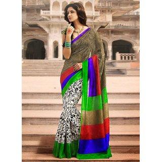 Party Wear Bhagalpur Designer Saree  GBR Print