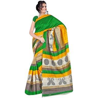 Party Wear Bhagalpur Designer Saree  Piludi Print