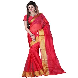 c0ab2d07b Buy Fashion Star Red Mysore Silk Printed Saree With Blouse Piece ...