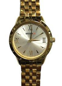 100 Genuine Branded KILLER Wrist Watch Golden With Warranty Card In Box KLW680i