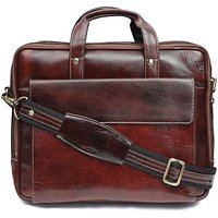WildHide 14 inch Laptop Messenger Bag Brown in color Ge