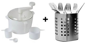Buy Dough/Atta Maker With 3 Measuring Cup  Get Stainless Steel Spoon Stand Free