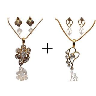 Apna Style Fashionable Antique Owl Pendent Necklace - Combo J2