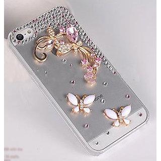 Pink Transparent Designer Jeweled iPhone 4s Cases
