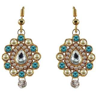 Stone Studded Brass Earring