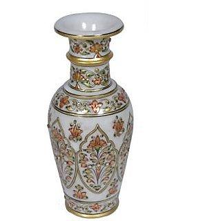Pooja Creation Marble Flower Vase