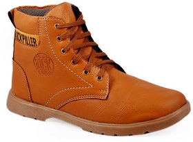 Stylos Mens Tan Lace-Up Boot