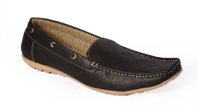Stylos Men Black Slip On Loafers