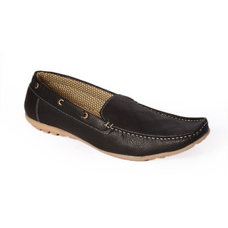 938d19a84e1 Buy Stylos Men Black Slip On Loafers Online - Get 45% Off