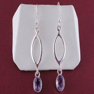 Amethyst Sterling Hanging Earrings