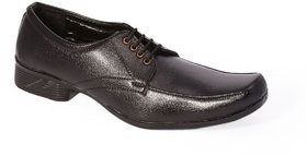 Stylos Mens Black Formal Shoes