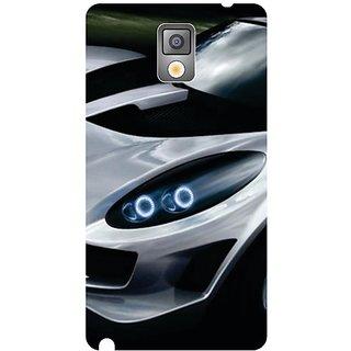 Samsung Galaxy Note 3 White Car