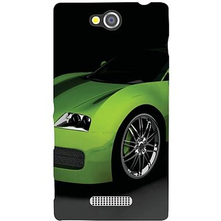 Sony Xperia C Green Car