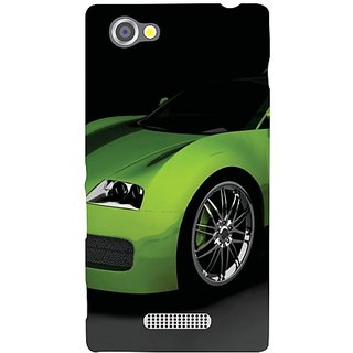 Sony Xperia M Green Car