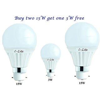 Ritzz Led Bulb 15w set of 2  get 3w led bulb free ac bulbs