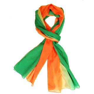 Ombre Scarf -Orange Green